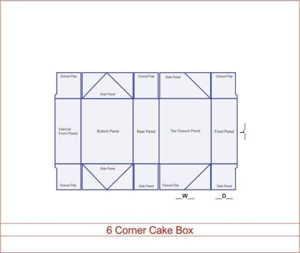 6 Corner Cake Box