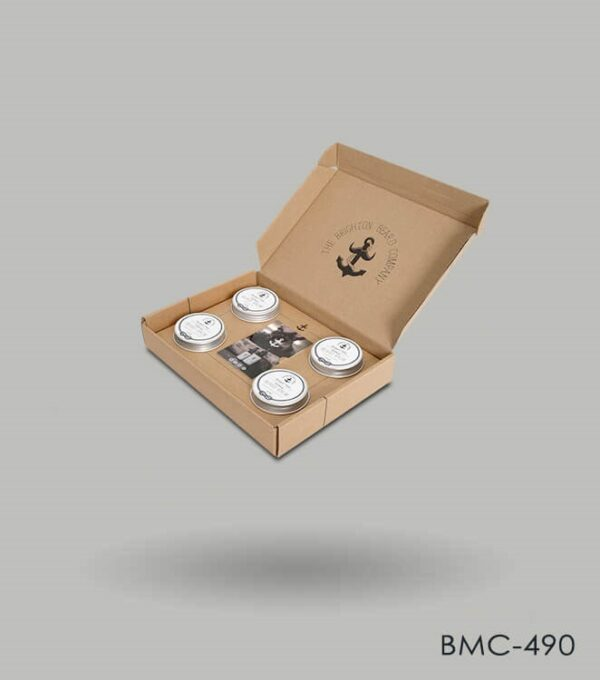 Beard balm box packaging