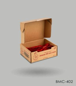 Custom Sauce sachet boxes