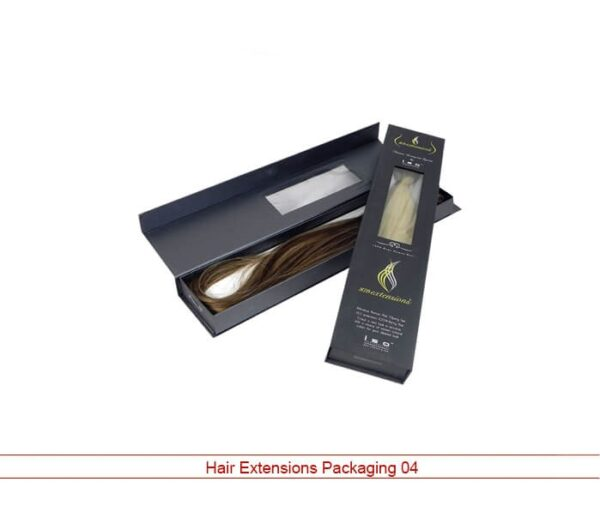 Custom hair extensions packaging
