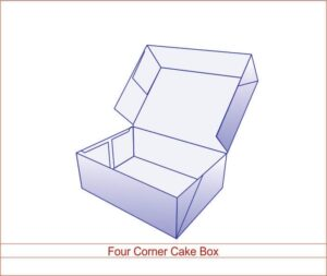 Four Corner Cake Box 01