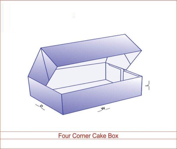 Four Corner Cake Box 02
