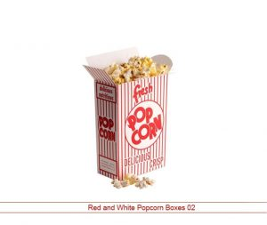 Red and White Popcorn Packaging