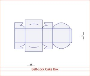 Self-Lock Cake Box 03